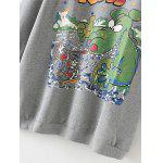 best Fleece Graphic Long Sweatshirt