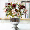Real Touch Camellia Artificial Flower Living Room Decoration - RED