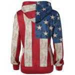 Buy Pullover American Flag Print Hoodie 2XL COLORMIX