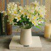 Real Touch Little Lily Artificial Flower Branch Decoration - WHITE