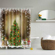 Hot Sale Waterproof Polyester 3D Merry Christmas Shower Curtain