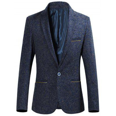 Zip Pocket Single Breasted Heather Blazer