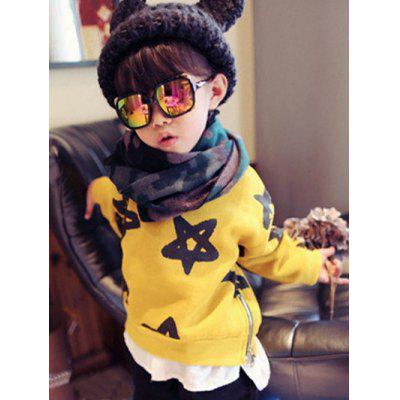 Crew Neck Star Print Sweatshirt