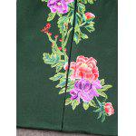 Frog Button Floral Embroidered Coat photo