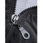 Brief Style Zipper Flying Hooded Casual Vest For Men - BLACK
