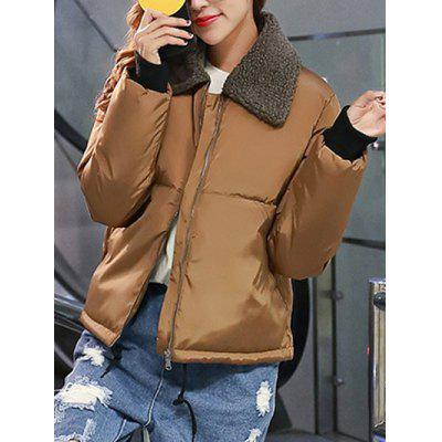 Fur Collar Zip-Up Puffer JacketJackets &amp; Coats<br>Fur Collar Zip-Up Puffer Jacket<br><br>Clothes Type: Jackets<br>Clothing Length: Regular<br>Collar: Turn-down Collar<br>Embellishment: Zippers<br>Material: Cotton<br>Package Contents: 1 x Jacket<br>Pattern Type: Solid<br>Season: Fall, Winter<br>Sleeve Length: Full<br>Style: Fashion<br>Type: Slim<br>Weight: 0.744kg