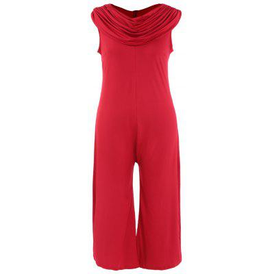 Plus Size Cowl Neck Jumpsuit