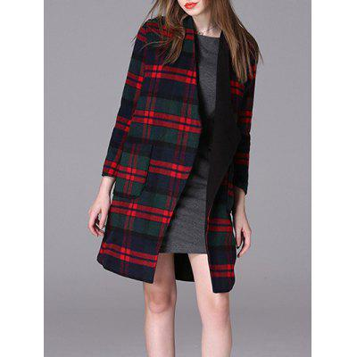 Plaid allentato cappotto di lana