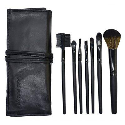 7 Pcs Fiber Makeup Brushes Set with Brush Bag