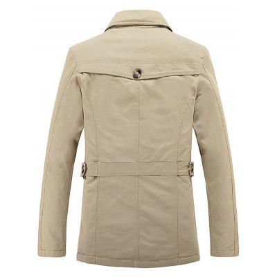 Turn-Down Collar Epaulet Embellished Single-Breasted Fleece CoatMens Jackets &amp; Coats<br>Turn-Down Collar Epaulet Embellished Single-Breasted Fleece Coat<br><br>Clothes Type: Others<br>Collar: Turn-down Collar<br>Material: Cotton, Polyester<br>Package Contents: 1 x Coat<br>Season: Winter<br>Shirt Length: Long<br>Sleeve Length: Long Sleeves<br>Style: Fashion<br>Weight: 1.190kg
