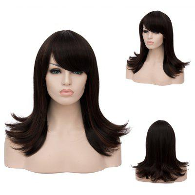 Buy COLORMIX Long Oblique Bang Straight Tail Upwards Highlight Synthetic Wig for $24.66 in GearBest store