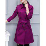 Double-Breasted Belted Trench Coat with Pocket deal