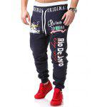 Buy CADETBLUE Graphic Printed Drawstring Coton Jogger Pants for $8.24 in GearBest store