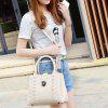 Metal Criss-Cross Textured Leather Tote Bag - OFF-WHITE