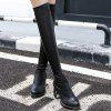 Platform PU Leather Back Zip Thigh Boots deal