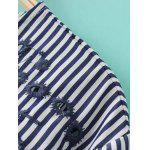 Striped Embroidered Asymmetric Blouse deal