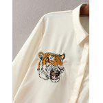 Tiger Embroidered Fitting Shirt - OFF-WHITE