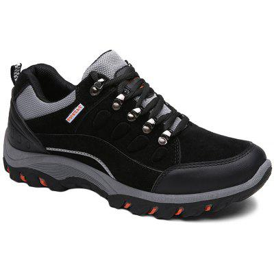 Buy Metal Splicing Colour Block Athletic Shoes BLACK 40 for $34.66 in GearBest store