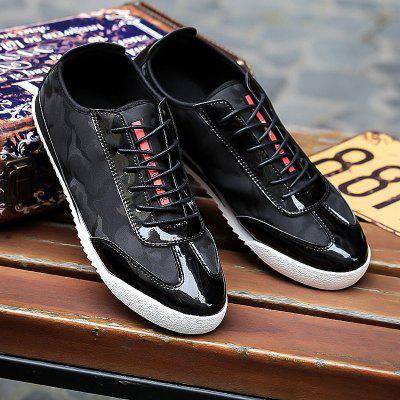 Buy BLACK Lace-Up Camouflage Pattern Splicing Casual Shoes for $12.69 in GearBest store