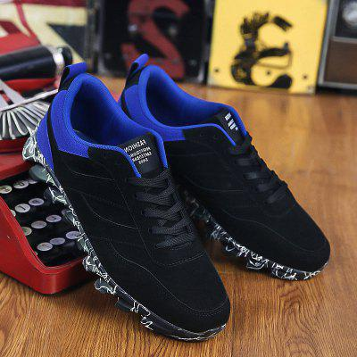 Buy BLUE AND BLACK Suede Colour Block Casual Shoes for $18.33 in GearBest store