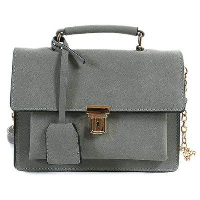 Chain Covered Closure Square Shape Crossbody Bag