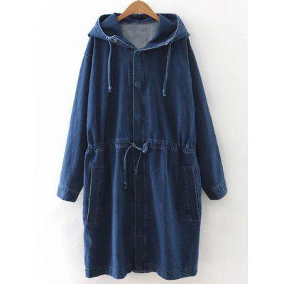 Coulisse cappuccio Denim Coat