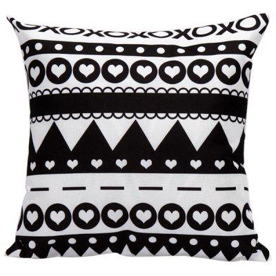 Soft Decorative Household Geometrics Heart Pattern Pillow Case