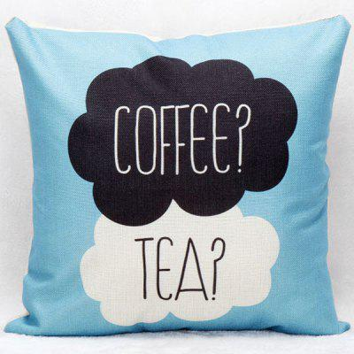 Hot Sale Coffee Tea Decorative Household Pillow Case