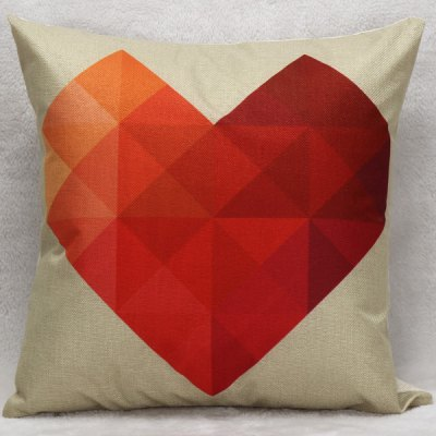 Hot Sale Romantic Heart Pattern Decorative Household Pillow Case