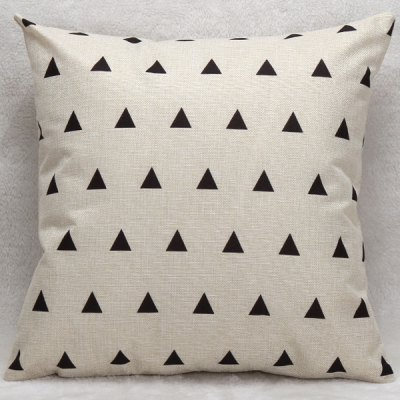 Decorative Household Little Triangles Pillow Case