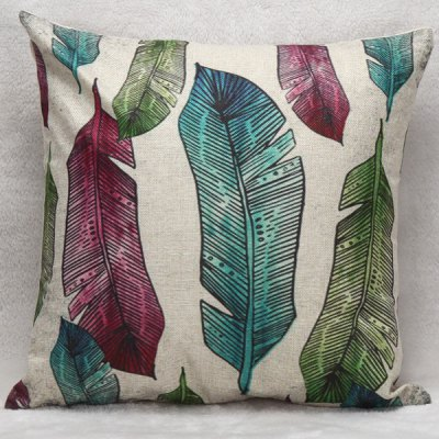 Decorative Household Banana Leaves Pillow Case