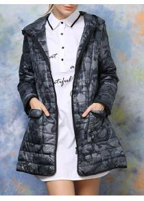 Hooded Camouflage Padded Coat
