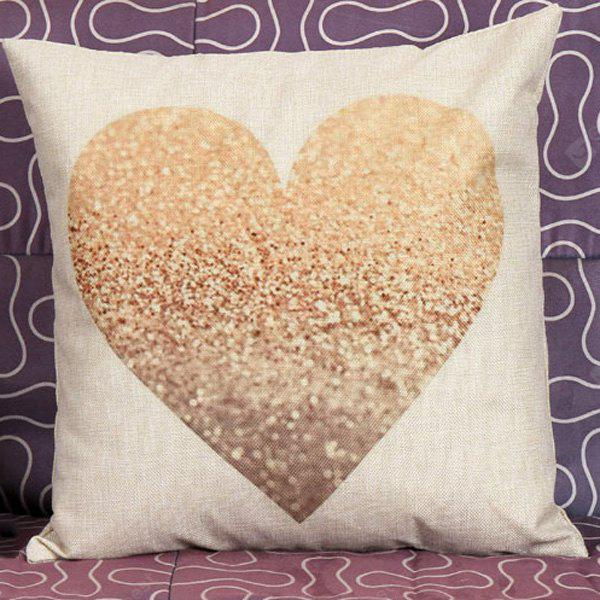 Hot Sale Heart Pattern Decorative Household Pillow Case