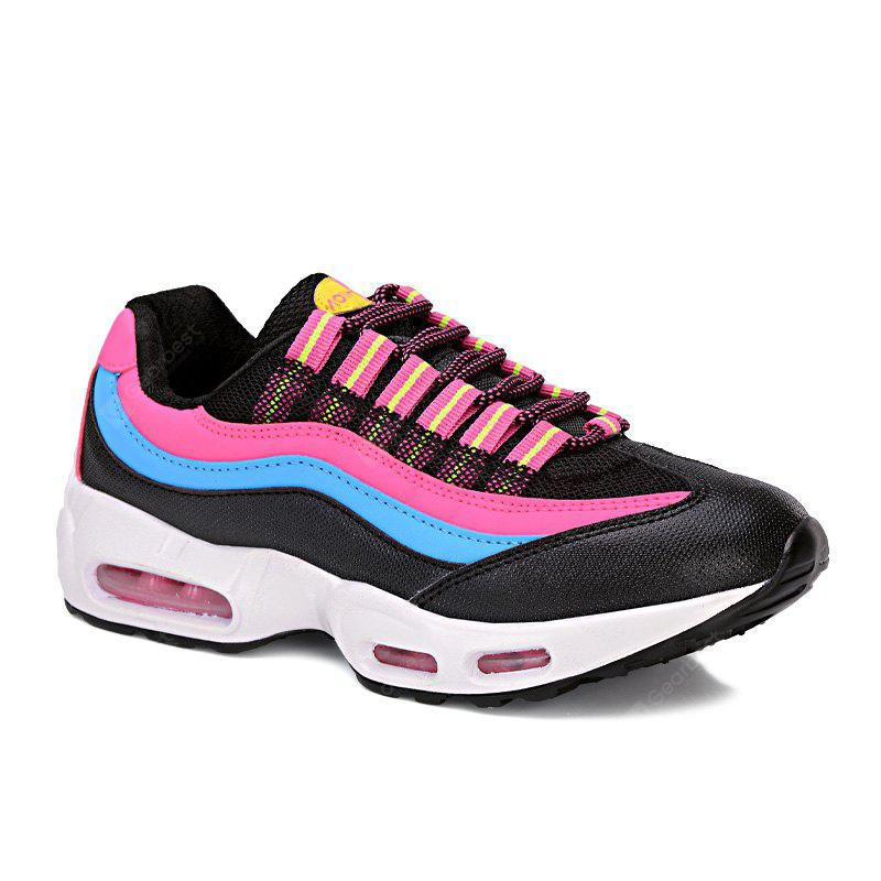Breathable Farbe Spliced Lace-Up Sportschuhe