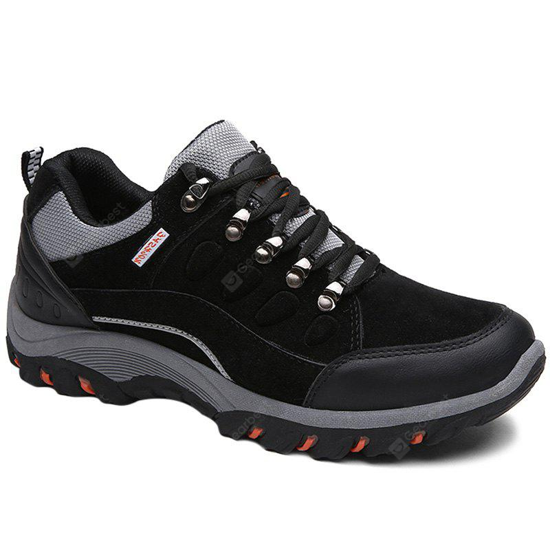 Metal Splicing Colour Block Athletic Shoes BLACK 40