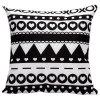 Soft Decorative Household Geometrics Heart Pattern Pillow Case - WHITE AND BLACK