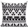 Soft Decorative Household Geometrics Triangles Pillow Case - WHITE AND BLACK