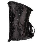 cheap Ruffled Rhinestone Steal Boned Corset