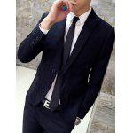 cheap Slim-Fit Lapel Single Breasted Jacquard Blazer