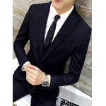 Slim-Fit Lapel Single Breasted Jacquard Blazer deal