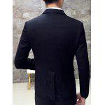 Slim-Fit Lapel Single Breasted Jacquard Blazer for sale