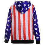 cheap Striped and Stars Loose Hoodie