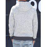 Button Pocket Appliqued Sweatshirt Hoodie deal