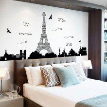 Removable Eiffel Tower Wall Stickers Room Decoration