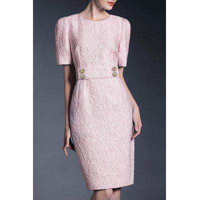 High Waisted Sheath OL Dress