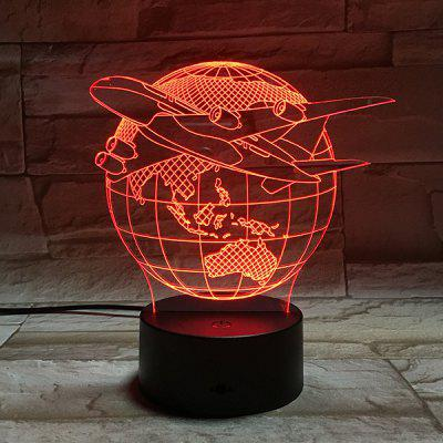 Colorful 3D Visual Stereo Tellurion LED Bedroom Night Light