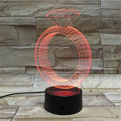 3D Illusion Ring 7 Color Changing LED Valentine Gift Night Light