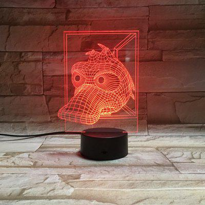 Color Change 3D Visual Novelty Animal LED Kids Room Night Light