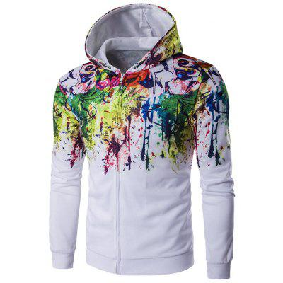 Paint Splash Zip Up Cool Hoodie