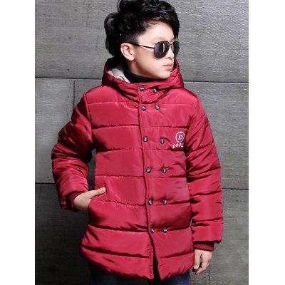 Double Breasted Hooded Padded Coat